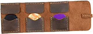 Hide & Drink, Leather Guitar Pick Roll, Plectrum Case, Guitarist Gifts, Musician Accessories, Handmade Includes 101 Year Warranty :: Bourbon Brown