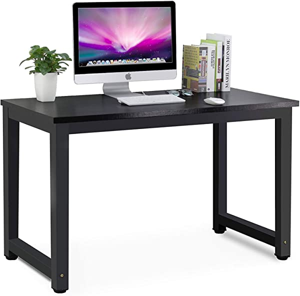 ME2 Modern Computer Desk 55 Inch Large Office Desk Computer Table Study Writing Desk For Home Office All Black