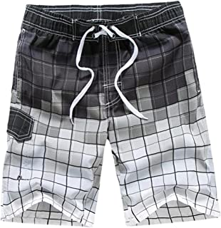 Yililay Men Beach Shorts Swimming Trunks Quick Dry Swim Suits for Board Bathing Casual Surfing Pants with Pocket L