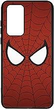 Coque pour Huawei P40 Les Yeux de Spiderman - Spiderman Eyes - Toile Spiderman - Coque Noire TPU Souple (P40)