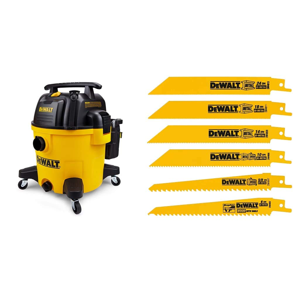 specialty shop Very popular! DeWALT DXV10P 10 Gallon Quiet Poly Dry Vacuum Recip Wet Yellow