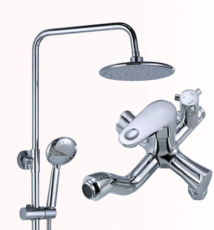 ZHH shower set liftable shower bathroom shower wall mounted shower European style shower hand shower