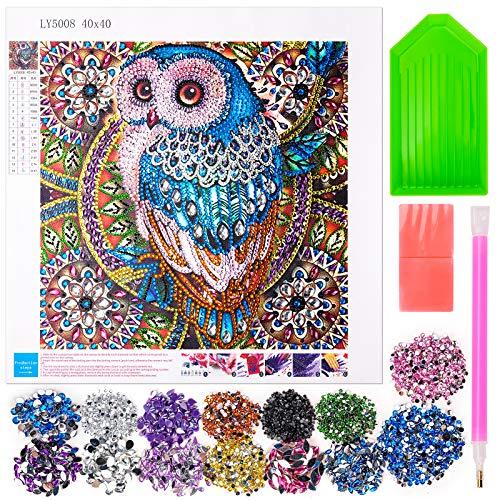 Diamond Painting Set für Kinder Erwachsene, 5d Diamant Painting Vollbohr für Kinder Frauen Alter 9 10 11 12, Diamant Painting Bilder für Erwachsene Kinder Eulen Geschenke für 6-10 Jahre alte Mädchen