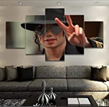 NO BRAND 5 Panel Music Michael Jackson Poster Wall Art Modern Home Decorativo Dormitorio Lienzo Pintura Imprimir Wall Picture Style 25x38cm-2p 25x50cm-2p 25x63cm-1p Sin Marco