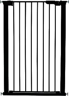 extrahoch schwarz BabyDan T/ürschutzgitter Befestigung durch Druck Anzeige f/ür korrekten Halt