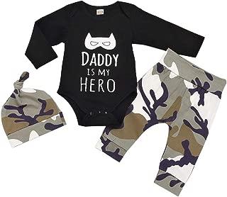 Toddler Baby Boy Clothes Cute Letter Romper Pants Hat 3pcs Outfits Set