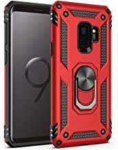 Samsung Galaxy S9 Case, Extreme Protection Military Armor Dual Layer Protective Cover with 360 Degree Unbreakable Swivel Ring Kickstand for Samsung Galaxy S9 Red