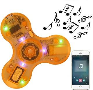 Kivors LED Light Fidget Spinner, Clear Led Crystal Hand Spinner Stress Release EDC Toys with Wireless Speakers for Children Adults