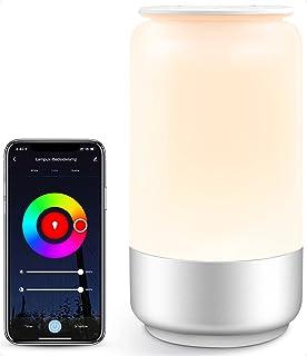 لامپ جدول هوشمند Smart LampUX WiFi با الکسا ، Google Home ، IFTTT ، نور شب تاب کودک و RGB قابل تنظیم ، چراغ مجهز به اتاق خواب Dimmable برای چراغ خواب ، کار کامپیوتر ، نورپردازی و سایر موارد کار می کند