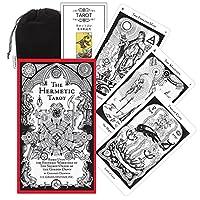 Kancharo タロットカード 78 枚 タロット占い【ヘルメティック タロット The Hermetic Tarot】日本語説明書&ポーチ付き(正規品)
