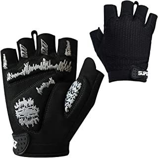 Superbike Women/Men Cycling Gloves Padded Half Finger Bicycle Gloves Fit for MTB, Road Cycling, Gym, Workout,Motorcycle Riding