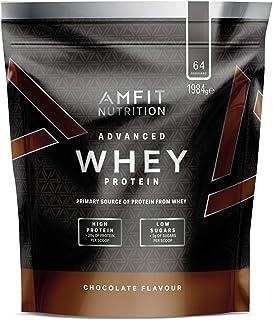 Amazon Brand - Amfit Nutrition Advanced Whey Protein Powder - 64 Servings (Chocolate)
