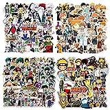 200 Piezas de Pegatinas de Anime, Pegatinas Mixtas de Naruto, Hunter x Hunter, My Hero Academia, Haikyuu Pegatinas de Vinilo Monopatín Pegatinas para Portátiles para Adolescentes