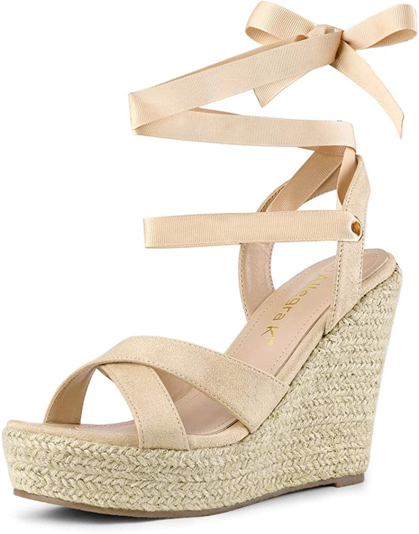 Allegra Industry No. 1 K Women's Espadrille Platform Sales of SALE items from new works Sandals Lace Up Wedges