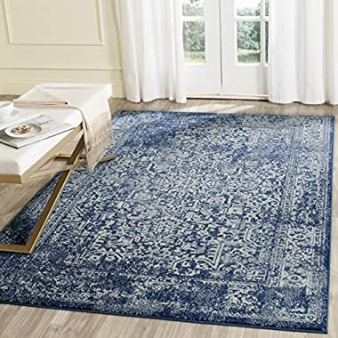 Safavieh Evoke Collection EVK256A Vintage Oriental Navy and Ivory Area Rug (5'1  x 7'6 )