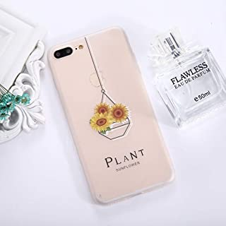 QFH For iPhone 8 Plus & 7 Plus Succulents Pattern TPU Dropproof Protective Back Cover Case new style phone case (Color : Color3)