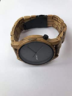 UAKARI Reloj de Madera analógico Zebrawood Hombre y Mujer Color marrón