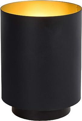 Lucide 45588/01/30 - Lámpara de mesa, metal, 40 W, color negro, dorado mate y latón
