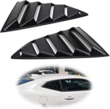 iJDMTOY Left/Right Black Finish Racing Style Rear Side Window Scoop Air Vent/Louver Shades For 2016-up Chevy Camaro