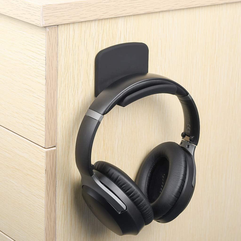 Neetto Headphone Hanger Holder Wall Mount, Headset Hook Under Desk, Universal Stand for Sennheiser, Sony, Bose, Beats, AKG, Audio-Technica, Gaming Headphones, Earphones, Cables - HS907