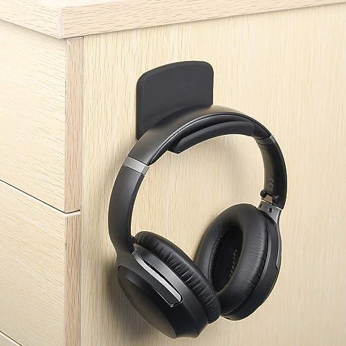 Neetto HS907 Support Casque Audio en Silicone, Porte-Casque, Cintre pour Casques, Crochet pour écouteurs, Bureau, Mur...