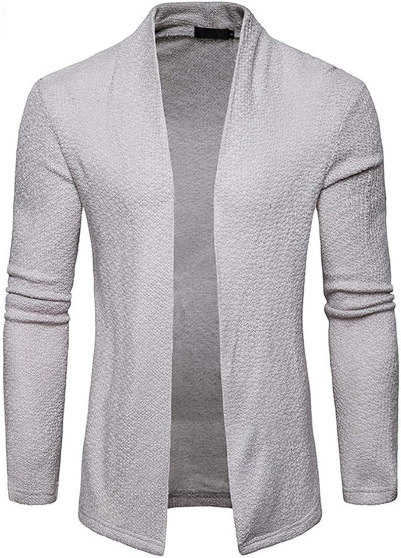 0787cc54700 Men's Sweater, Fashion Fashion Fashion Long Sleeve Lapel Shawl Cardigan  Slim Medium and Long Section Coat Autumn and Winter A, Size M 032c30