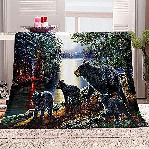 Tier-Illustrations-Decke, 3D-Druck, Plüsch-Tagesdecke, Zebra, Affe, Fisch, Bettwäsche, weiche Decke, Fleecedecke, Steppdecke, Überwurf, Decke, 150 x 200 cm