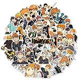 Pegatinas Haikyuu, 50 Piezas Pegatinas de Anime para Niños, Monopatín Portátil, Pegatina Impermeable para Coche