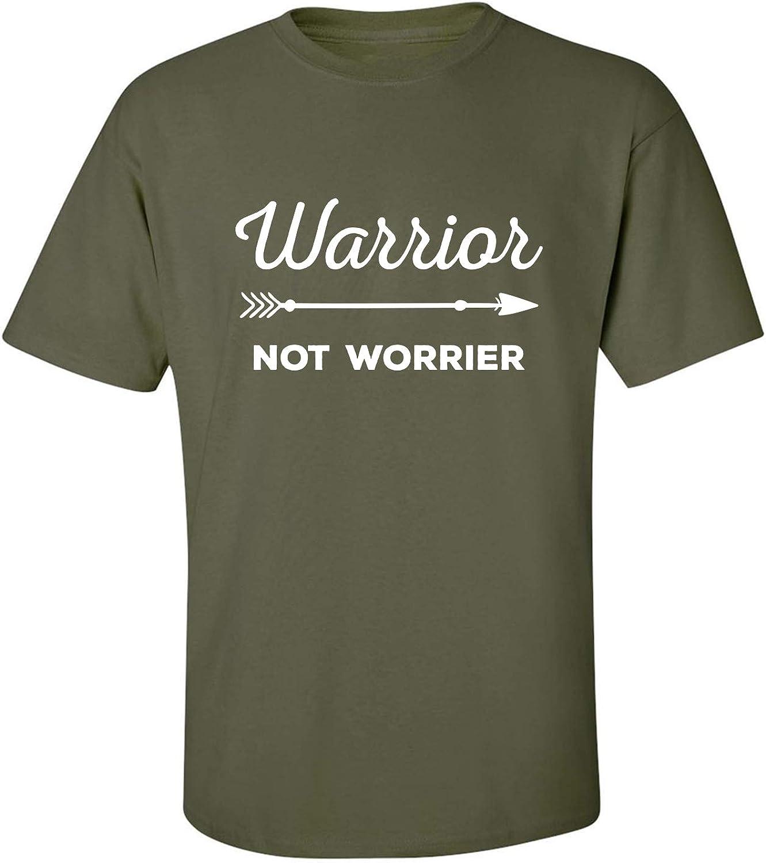 Warrior Not Worrier Adult Short Sleeve T-Shirt