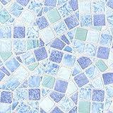 Venilia Klebefolie Basic Mosaik 45 cm x 150 cm Adhesiva Mosaico Decorativa, Muebles, Papel Pintado, lámina autoadhesiva, PVC, sin ftalatos, 1,5m, 53234, 45 cm x 1,5 m