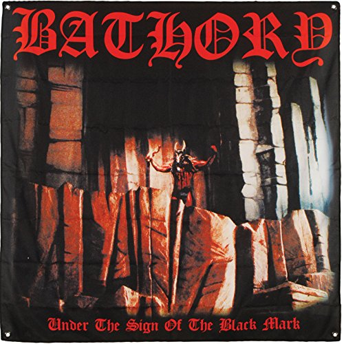 Bathory Under The Sign Of The Black Mark Flag Fabric Poster 48 x 48in