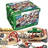 BRIO World 33052 Straen und Schienen Bahn Set Deluxe Schienenset fr die...