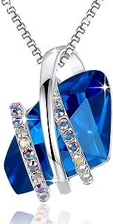 Leafael Wish Stone Pendant Necklace Made Swarovski...