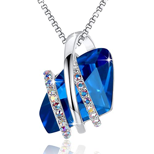 dfbb0902bc0d0 Blue Crystal Necklaces: Amazon.com