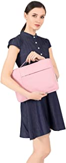 MOSISO Polyester Fabric Multifunctional Sleeve Briefcase Handbag Case Cover for 15-15.6 Inch MacBook Pro, Notebook Computer, Pink