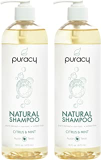 Puracy Natural Daily Shampoo, New Sulfate-Free Formula, All Hair Types, 16 Ounce (2-Pack)