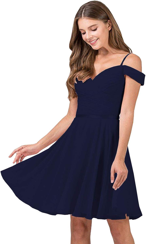 Yilis Women's V-Neck Now on sale Off The Ruched Chiffon New color Short Bride Shoulder