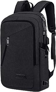 YOREPEK Slim Laptop Backpack, Business Computer Backpack with USB Charging Port for Men Women, Anti Theft Travel Daypack College Backpack, Water Resistant School Bookbag Fit 15.6 inch Laptop-Black