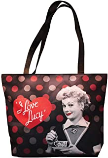 Midsouth Products I Love Lucy Large Tote Bag - Red and Black Polka Dots