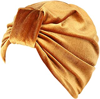 1b8144cfbf441e LIULIULIU🍒Indian Style Muslim Velvet Turban Hat Bandana Chemo Head Wrap  Headscarf