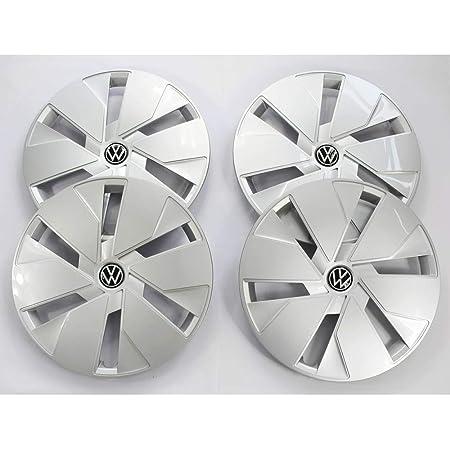 Volkswagen 10a601147bwzg Radkappe 1 Stück Radzierblende 18 Zoll Stahlfelgen Radblende Schwarz Silber Auto