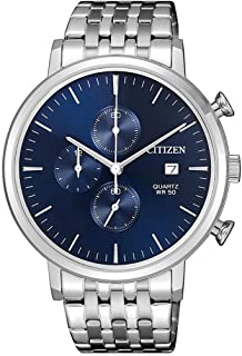 CITIZEN Mens Quartz Watch, Chronograph Display and Stainless Steel Strap - AN3610-55L