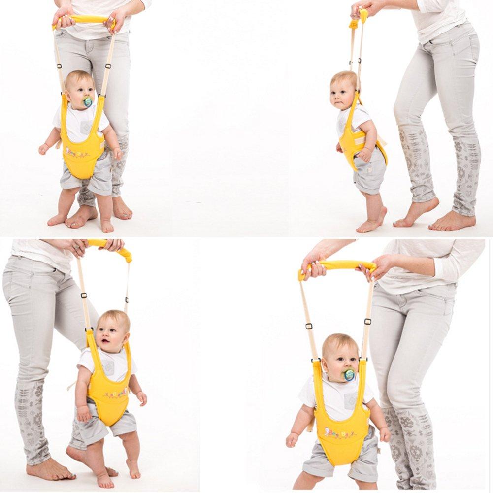 OLizee Breathable Handheld Baby Child Harnesses Learning Assistant Toddler Walking Helper Kid Safe Walking Protective Belt(Blue)