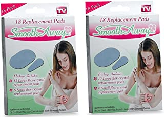 2 pack Smooth Away Hair Removal-36 Replacment Pads Total-As Seen on TV