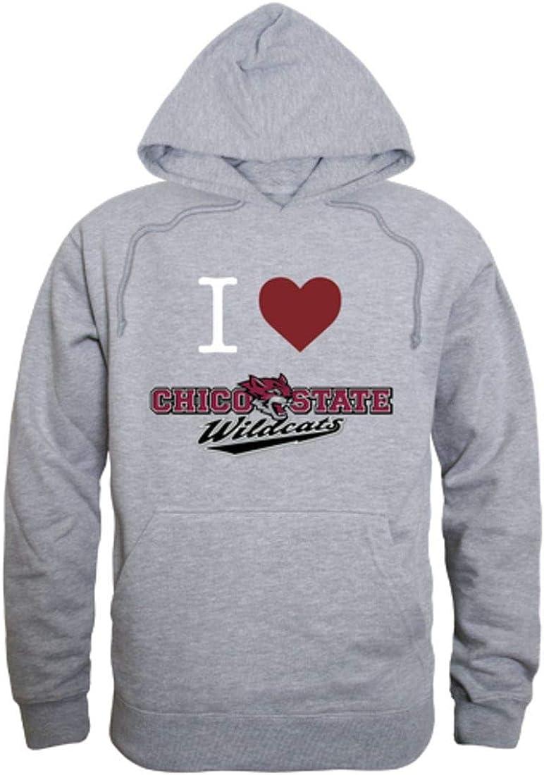 I Love CSU California State University Chico Wildcats Hoodie Sweatshirt