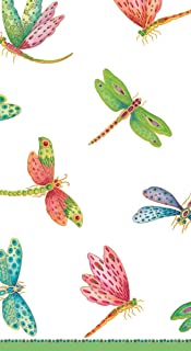 Entertaining with Caspari Dragonflies Paper Guest Towels, Pack of 15