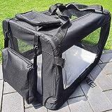 zooprinz Faltbare Hundetransportbox mit sicherem Stahlrohrrahmen - inklusive Kuschelunterlage für deinen Hund - in 5 Größen und 2 Farben (M, Schwarz)