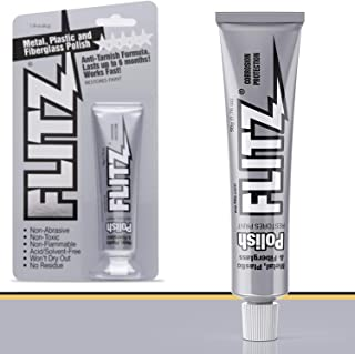 Flitz Multi-Purpose Polish and Cleaner Paste for Metal, Plastic, Fiberglass, Aluminum, Jewelry, Sterling Silver: Great for Headlight Restoration + Rust Remover, Made in the USA, 10 Pack