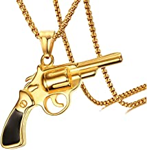 gold revolver necklace