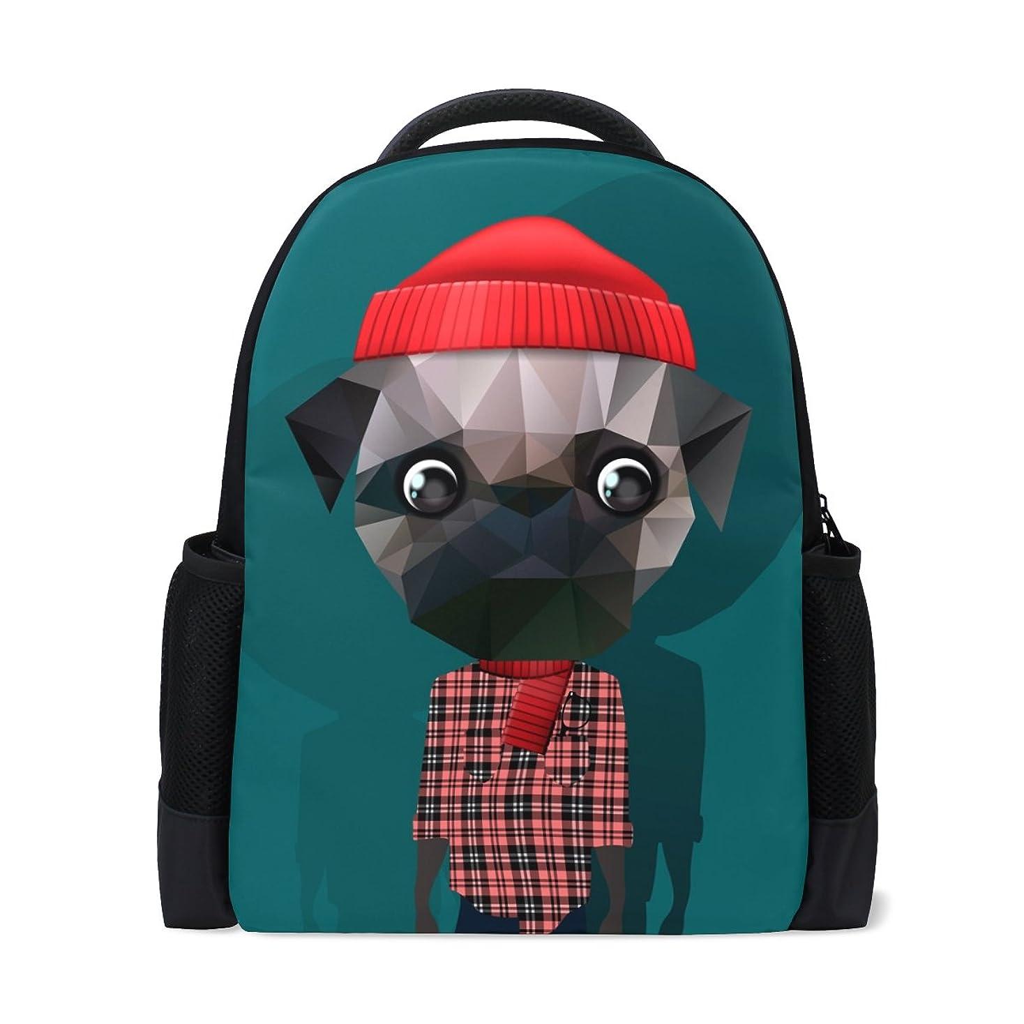 契約敬なピジンAOMOKI リュックサック バッグ 男女兼用 通勤 通学 大容量 メンズ レディース 犬 幾何学